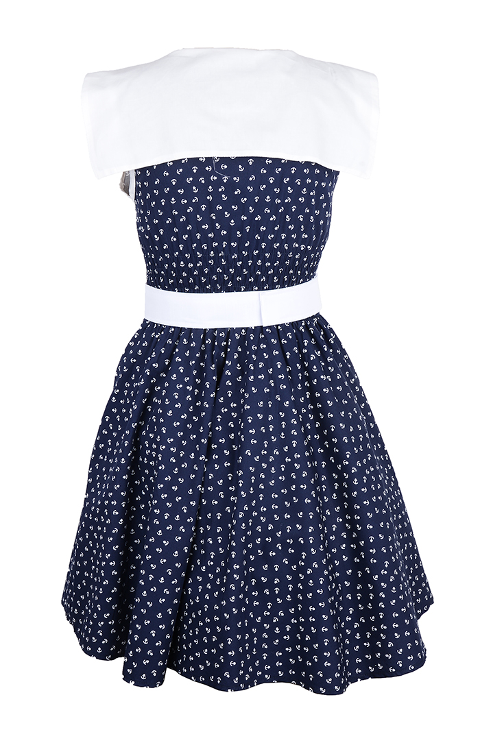 k stenluder leiah anker 50s anchor sailor swing dress. Black Bedroom Furniture Sets. Home Design Ideas