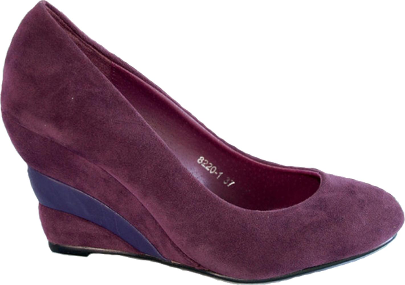 reto wedge heel suede 2 tone wedges court shoes purple