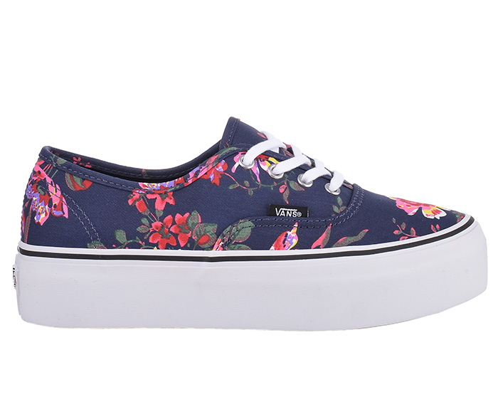 vans authentic platform 4 eye floral navy sneakers schuhe rockabilly ebay. Black Bedroom Furniture Sets. Home Design Ideas