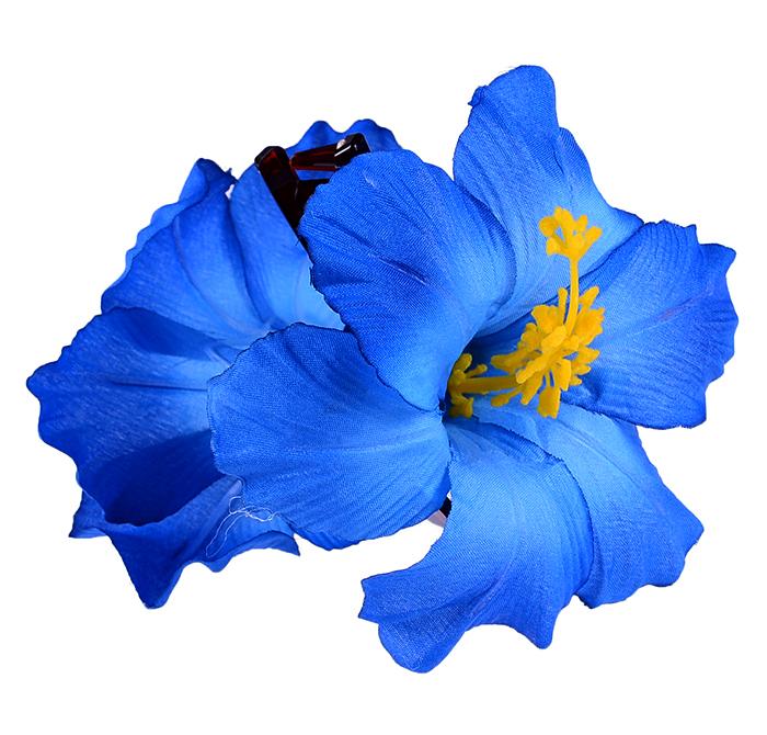 tiki flower hibiskus bl ten haarspange rockabilly blau. Black Bedroom Furniture Sets. Home Design Ideas