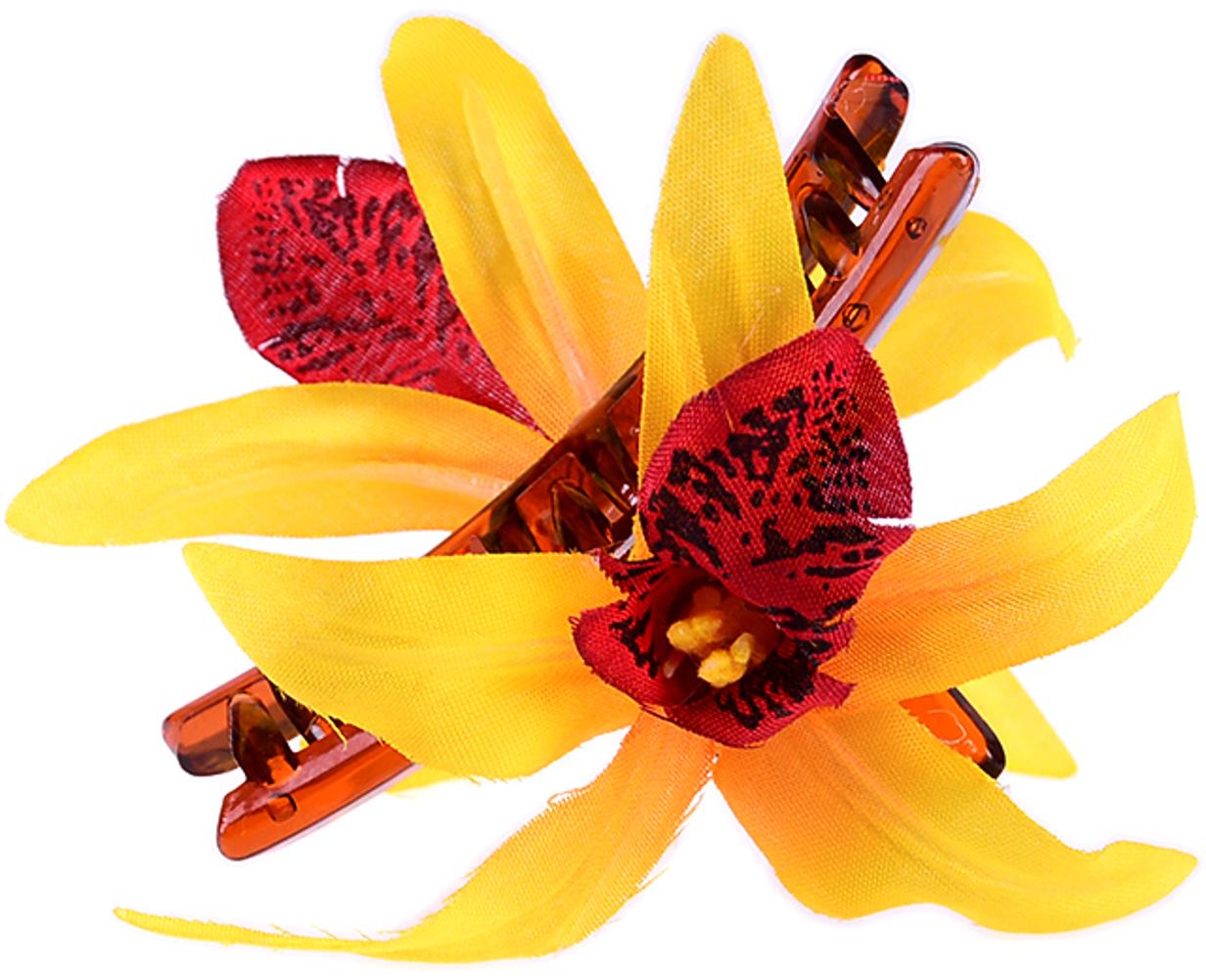 kleine tiki flower orchideen bl ten haarspange rockabilly. Black Bedroom Furniture Sets. Home Design Ideas