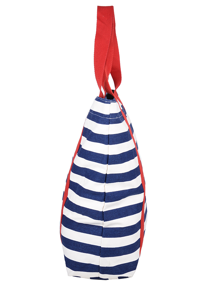 cute retro marita stripe 50s streifen shopper tasche blau wei rockabilly t ebay. Black Bedroom Furniture Sets. Home Design Ideas