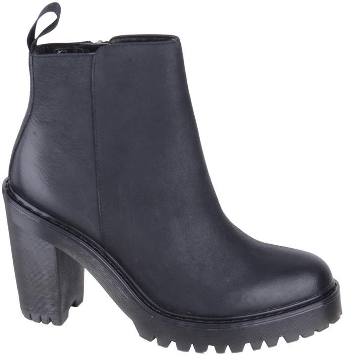 dr martens magdalena pol wyoming black ankle zip boot. Black Bedroom Furniture Sets. Home Design Ideas