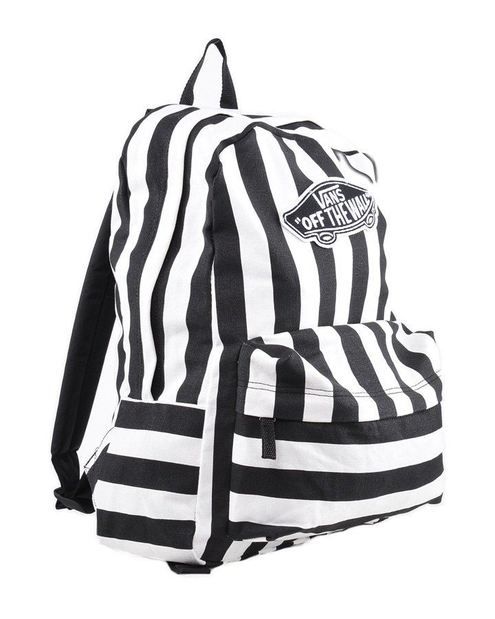 vans realm stripe streifen backpack rucksack black. Black Bedroom Furniture Sets. Home Design Ideas