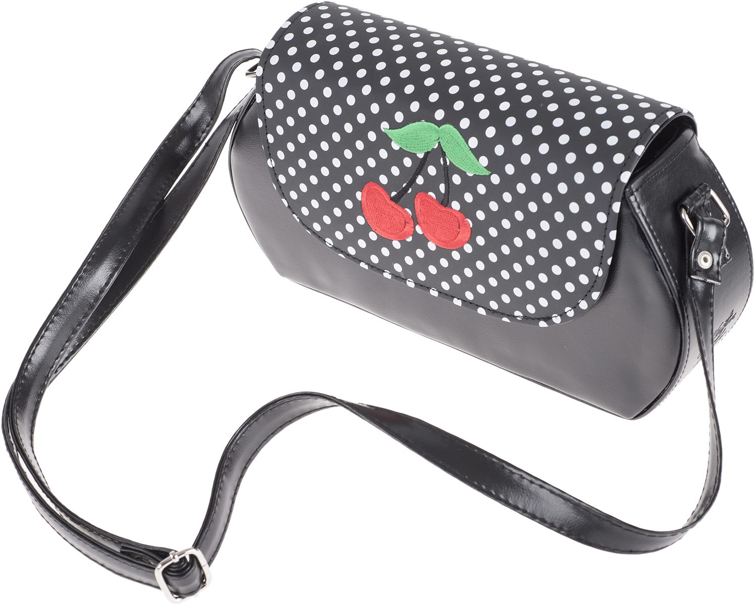 k stenluder karol 50s cherry kirschen polka dots tasche rockabilly ebay. Black Bedroom Furniture Sets. Home Design Ideas