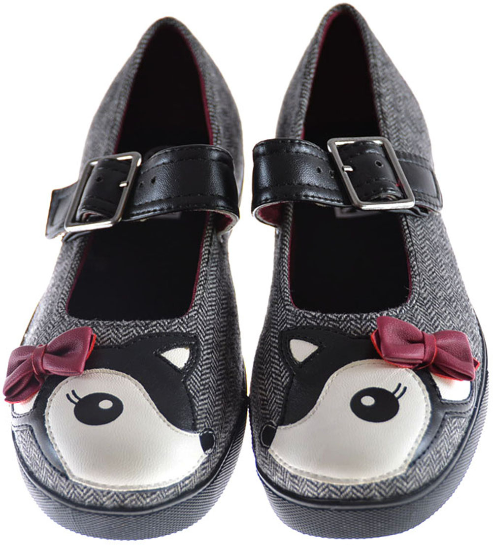 t u k herringbone emo deer plimmies mary janes schuhe rockabilly ebay. Black Bedroom Furniture Sets. Home Design Ideas