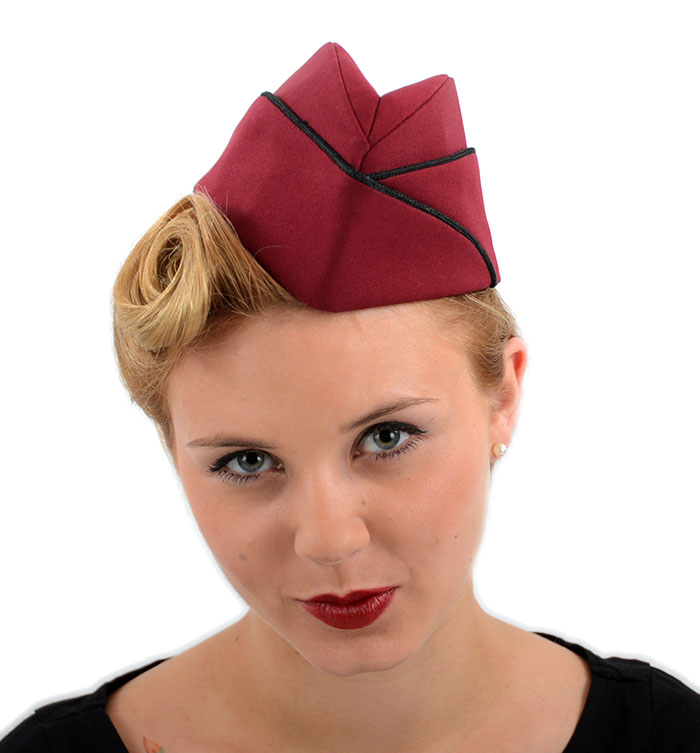 sailor matrosen 40er schiffchen uniform hut rockabilly vintage dunkelrot ebay. Black Bedroom Furniture Sets. Home Design Ideas